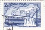 Stamps Hungary -  Mapa-tren y personaje