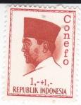 Stamps Spain -  Presidente Sukarno- CONEFO