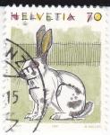 Stamps Switzerland -  Ilustraciones- Conejo