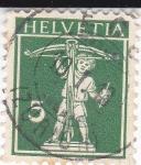 Stamps : Europe : Switzerland :  Niño con Ballesta