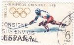 Sellos de Europa - España -  Juegos Olímpicos Grenoble- Jockey   (X)