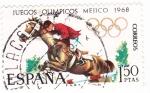 Sellos de Europa - España -  Juegos Olímpicos de México- Hípica (X)