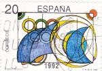 Stamps Spain -  Olimpiada Barcelona-92  Diseño Infantil  (X)