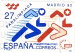 Sellos de Europa - España -  Paralimpiada- Madrid-92   (X)