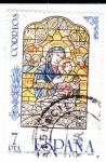 Sellos de Europa - España -  La Virgen y el Niño- Catedral de  Sevilla     (X)