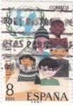 Sellos de Europa - España -  XXV aniversario del UNICEF   (X)