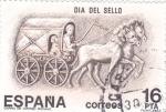 Stamps Spain -  Día del Sello- Carro de Correo Romano   (X)