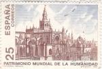 Stamps Spain -  Patrimonio Mundial de la Humanidad- Catedral de Sevilla   (X)
