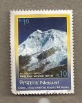 Stamps Asia - Nepal -  Montaña  Makalu, Jubileo 1er Ascenso