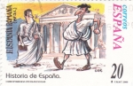 Stamps Spain -  Historia de España- Hispania Romana   (X)