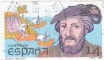 Stamps Spain -  Américo Vespucio     (X)