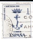 Sellos de Europa - España -  Semana Naval-Barcelona 1966   (X)