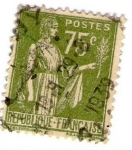 Stamps : Europe : France :  RF 75C