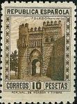 Stamps Spain -  Monumemtos y autogiro