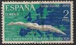 Sellos de Europa - España -  XII Campeonatos  de Europa de Natación, Saltos y Waterpolo. Ed 1989