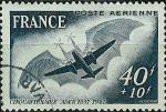 Sellos de Europa - Francia -  Aéreo - 1º vuelo
