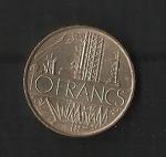 monedas de Europa - Francia -  Mapa / Reverso