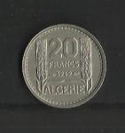 monedas de Europa - Francia -  Algeria / Ocupacion / Reverso.