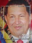 Sellos de America - Venezuela -  Hoja bloque del Presidente:HUGO RAFAEL CHÁVEZ FRÍAS 1954-2013