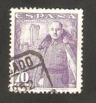 Stamps Spain -  1030 - General Franco y Castillo de la Mota