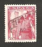 Sellos de Europa - España -  1032 - General Franco y Castillo de la Mota