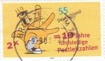 Stamps Germany -  10 AÑOS CODIGOS CINCO CIFRAS