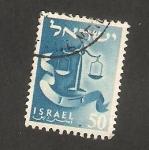 Stamps Israel -  101 - Emblema de la tribu de Dan