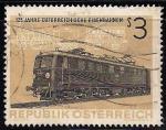 Sellos de Europa - Austria -  125 años de los ferrocarriles austriacos.- Locomotora eléctrica de 1837