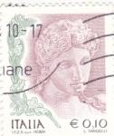 Stamps Italy -  LA MUJER EN EL ARTE