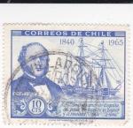 Sellos de America - Chile -  125 ANIVERSARIO DE LA LLEGADA AL PAÍS DE BARCOS DE VAPOR Y A RUEDA 1840-1965