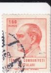 Stamps Turkey -  PRESIDENTE KEMAL ATATURK