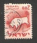 Sellos de Asia - Israel -  187 - Tauro, signo del Zodiaco