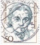 Stamps Germany -  CHRISTINE TEUSCH- política