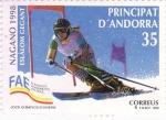 Stamps Andorra -  NAGANO 1998- ESLÁLOM GEGANT