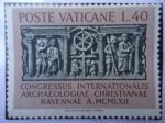 Stamps Vatican City -  Poste Vaticane-Congreso Internacional de Arqueología Christianae Ravennae 1962.