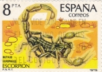 Stamps Spain -  Escorpión     (Y)