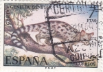 Sellos de Europa - España -  Gineta-FAUNA HISPÁNICA  (y)