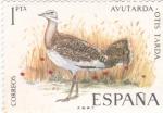 Sellos de Europa - España -  Avutarda-FAUNA HISPÁNICA  (y)