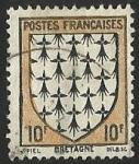 Sellos del Mundo : Europa : Francia : ESCUDOS PROVINCIAS  - BRETAGNE
