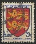 Sellos del Mundo : Europa : Francia : ESCUDOS PROVINCIAS  - NORMANDIE