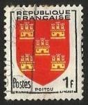 Sellos de Europa - Francia -  ESCUDOS PROVINCIAS  - POITOU
