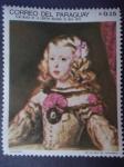 Stamps Paraguay -  Centenario de la epopeya Nacional 1864-1970. Oleo:Velazquez-La Infanta Margarita María