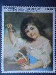 Sellos del Mundo : America : Paraguay : Paraguay - Centenario de la Epopeya Nacional 1864-1870 - Oleo:John Russell (1745-1806) Chica con cer