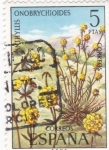 Stamps Spain -  FLORA- Anthyllis onobrychioides    (y)