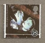 Stamps United Kingdom -  100 años de cine