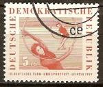 Sellos de Europa - Alemania -  III. Festival de Gimnasia y Deportes de Alemania, Leipzig 1959-DDR.