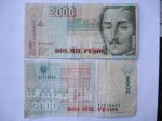 monedas de America - Colombia -  Bco.de la República-Dos Mil Pesos-General Santander(anv.)- y Casa de la Moneda del Bco. de La Rep.(r