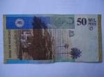monedas del Mundo : America : Colombia :  Bco.de la Rep.Cincuenta Mil-Casa y texto de la María de Jorge Isacs(Reverso)
