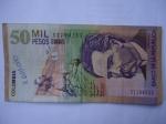 monedas del Mundo : America : Colombia :  Bco.de la Rep.Cincuenta Mil Pesos-Escrito:Jorge Isacs (Anverso)
