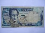 monedas del Mundo : America : Colombia :  El Banco de la República-Mil Pesos-Simón Bolívar-(Anverso)